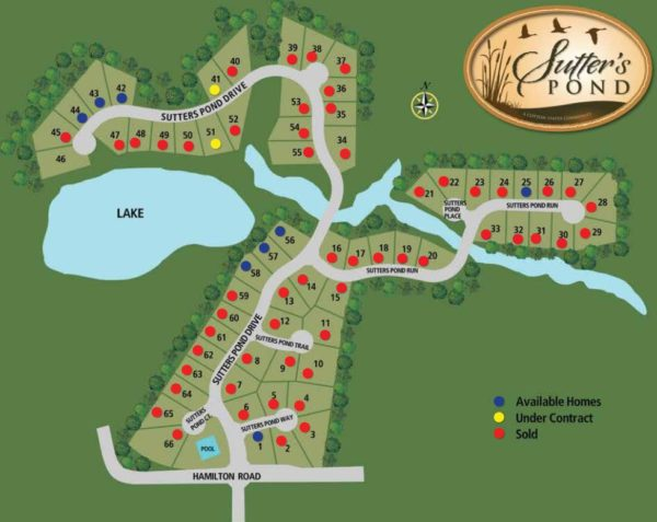 Sutter's Pond Site Plan Kennesaw GA